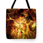 Fire And Shadow Tote Bag
