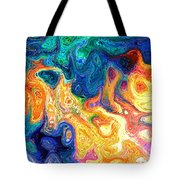 Fire And Water Abstract Art Tote Bag