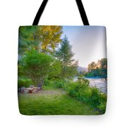 Fire And Water At Cottonwood Cottage Tote Bag