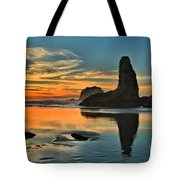 Fire At Low Tide Tote Bag