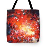 Fire Blazing In The Sky Tote Bag