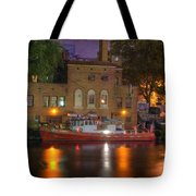 Fire Boat On Cuyahoga River Tote Bag