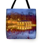 Fire Department Rescue Building On Water Tote Bag