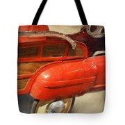 Fire Engine Pedal Car Tote Bag