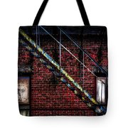 Fire Escape And Windows Tote Bag