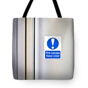 Fire Exit Tote Bag