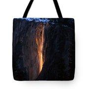 Fire Falls In Yosemite  Tote Bag