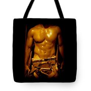 Fire Fighter In New York Tote Bag