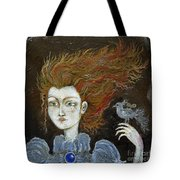Fire Haired  Girl Tote Bag