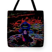 Fire Hydrant Bathed In Neon Tote Bag