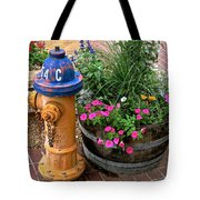 Fire Hydrant With Flowers Tote Bag