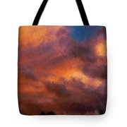 Fire In The Clouds Tote Bag