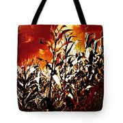 Fire In The Corn Field Tote Bag