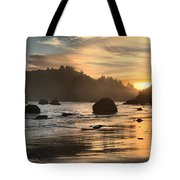 Fire In The Sand Tote Bag by Adam Jewell
