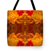 Fire In The Sky Abstract Pattern Artwork Tote Bag