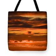 Fire In The Sky Tote Bag by Anne Gilbert