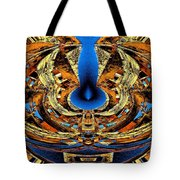 Fire In Wood Tote Bag