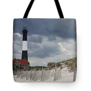 Fire Island Light From The Beach Tote Bag