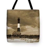 Fire Island Light In Sepia Tote Bag