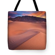 Fire On Mesquite Dunes Tote Bag by Darren  White