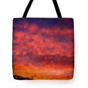 Fire On The Hillside Tote Bag