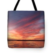 Fire On The Lake Tote Bag