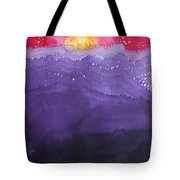 Fire On The Mountain Original Painting Tote Bag