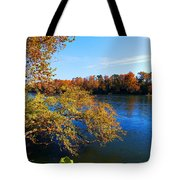Fire On The River Tote Bag