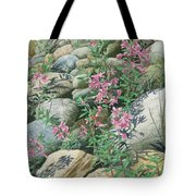Fire On The Rocks Tote Bag