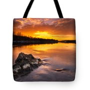Fire On The Sky Tote Bag