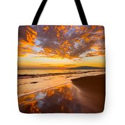 Fire Over Lahaina Tote Bag