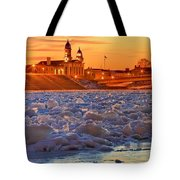 Fire Over The Clinton County Courthouse Tote Bag