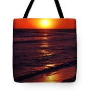 Fire Red Sunset Tote Bag