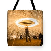 Fire Spinner Tote Bag