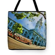Fire Truck And Ferry Building Tote Bag
