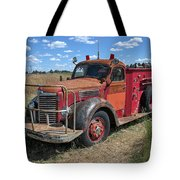 Fire Truck International Harvester C. 1946 Tote Bag