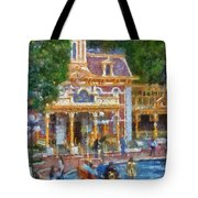 Fire Truck Main Street Disneyland Photo Art 02 Tote Bag