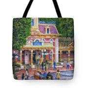 Fire Truck Main Street Disneyland Tote Bag