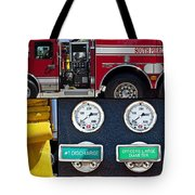 Fire Truck With Isolated Views Tote Bag