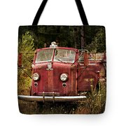 Fire Truck With Texture Tote Bag