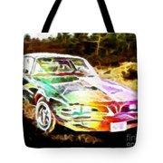 Firebird Expressive Brushstrokes Tote Bag