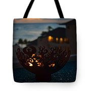 Firebowl At Night Tote Bag
