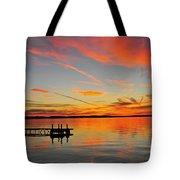Firecracker Sunset Tote Bag