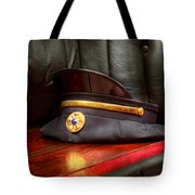 Firefighter - Hat - The Ex Chiefs Hat Tote Bag by Mike Savad