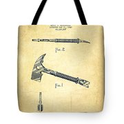 Fireman Axe Patent Drawing From 1940 - Vintage Tote Bag