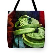 Fireman - Coiled Fire Hoses Tote Bag