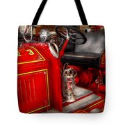 Fireman - Fire Engine No 3 Tote Bag by Mike Savad