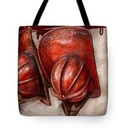 Fireman - Hat - Old Fashioned Fire Hats  Tote Bag by Mike Savad