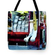 Fireman - Hoses On Fire Truck Tote Bag