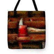 Fireman - The Fireman's Axe Tote Bag by Mike Savad